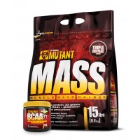 MUTANT Mass (15 LBS) FREE Mutant BCAA 9.7 (10 SERVINGS)