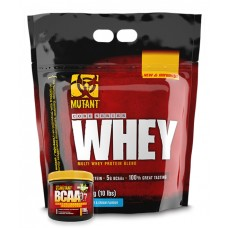 MUTANT Whey (10 LBS) FREE Mutant BCAA 9.7 (10 SERVINGS)