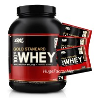 Optimum Nutrition Gold Standard 100% Whey (5 LBS) FREE 3 SACHETS