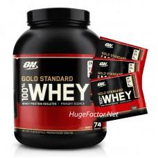 Optimum Nutrition Gold Standard 100% Whey (5 LBS) FREE 3 SACHETS