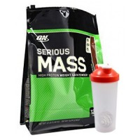 Optimum Nutrition Serious Mass with Blender Shaker (12 LBS)